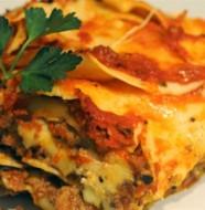 Lasagne con carne tritata e ricotta
