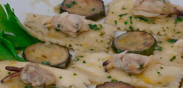 Quadrotti di pasta fresca ai funghi porcini