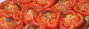 Pomodori affettati al forno