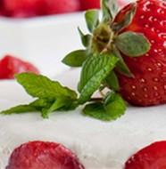 dessert di fragole