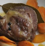 Quadratini di vitello alle carote