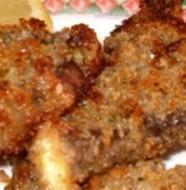agnello gratinato con lenticchie stufate