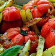 contorni patate e pomodorini